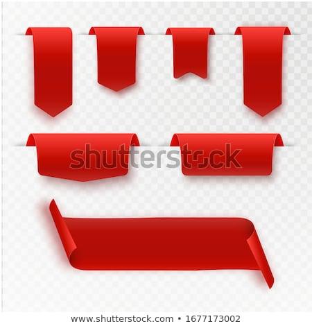 Rosso segnalibro nastro grigio carta sfondo Foto d'archivio © Elmiko