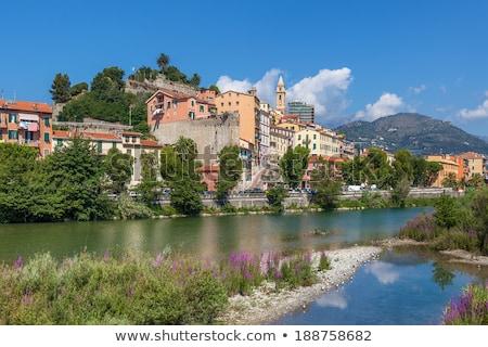 árvores grama cidade velha blue sky Itália cidade Foto stock © rglinsky77