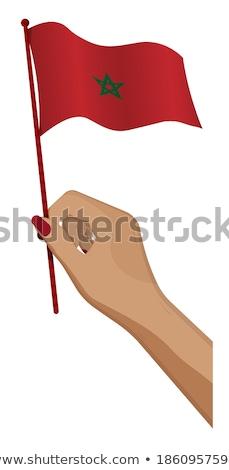 Марокко небольшой флаг карта избирательный подход фон Сток-фото © tashatuvango