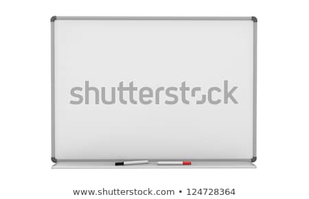 Empty board on white. Isolated 3d image stock photo © ISerg