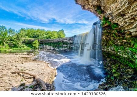 vízesés · Skócia · égbolt · víz · háttér · hegy - stock fotó © michaklootwijk