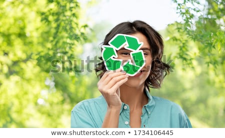 recycling woman stock photo © gemenacom