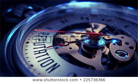 Reputation on Pocket Watch Face. Stock photo © tashatuvango