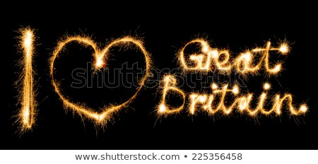 Inscription I love Great Britain made of sparkles on black Stock photo © vlad_star