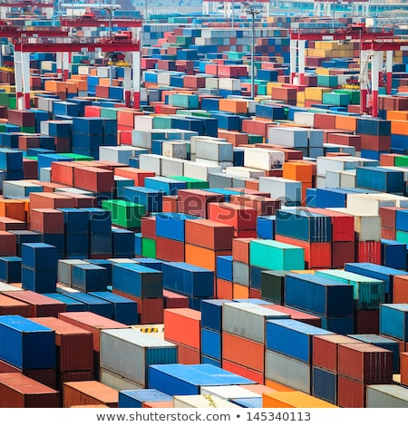 ストックフォト: カラフル · 貨物 · 空 · 海 · 緑 · 青