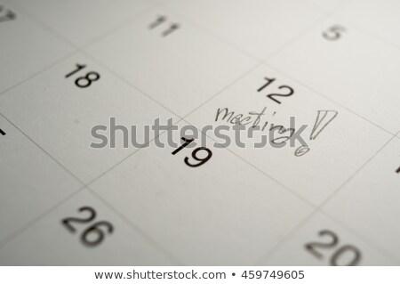 Seminario escrito calendario página oficina escuela Foto stock © Zerbor