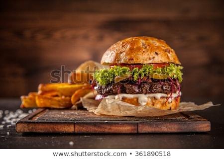 gourmet burgers stock photo © unikpix