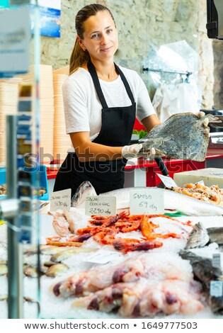 lazac · vásár · piac · friss · piros · hús - stock fotó © elxeneize