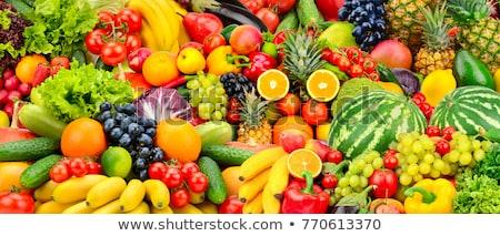 friss · érett · őszibarackok · szilva · doboz · fa · asztal - stock fotó © barbaraneveu