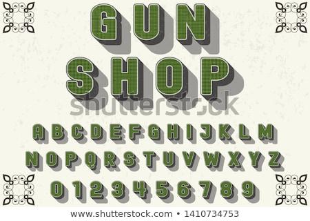 пушки магазин логотип вектора Creative целевой Сток-фото © twindesigner