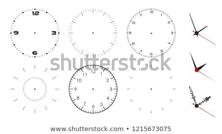 Stockfoto: Ingesteld · zwarte · klokken · icon · kantoor · werk