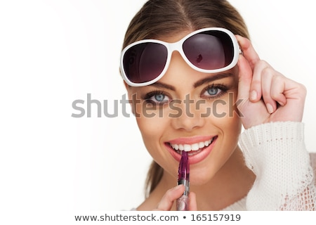 Blond Woman Holding a Tobacco and E-Cigarette Stock photo © juniart