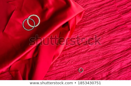 Crinkled Red Satin Background texture Stock photo © njnightsky