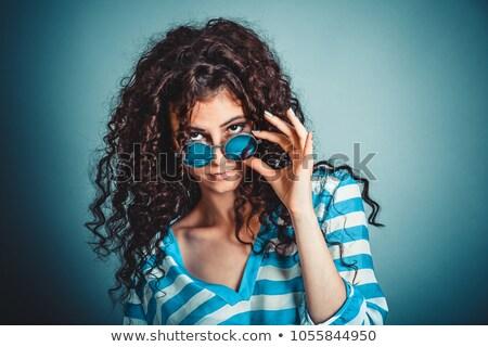Ruim mulher olhando para baixo desagradável sensual retrato Foto stock © Giulio_Fornasar