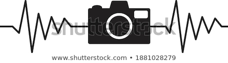 photo of red heart rate monitor Stock photo © artjazz