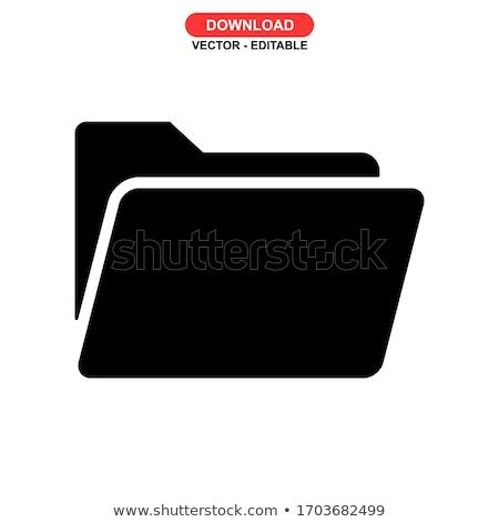 Stockfoto: Kantoorwerk · Geel · vector · knop · icon · ontwerp