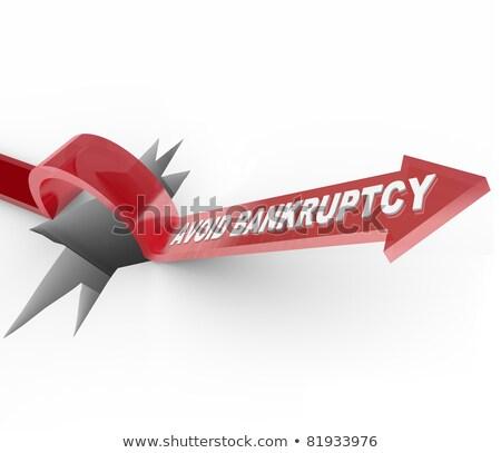 банкротство слов деловой женщины человека рук бизнеса Сток-фото © fuzzbones0