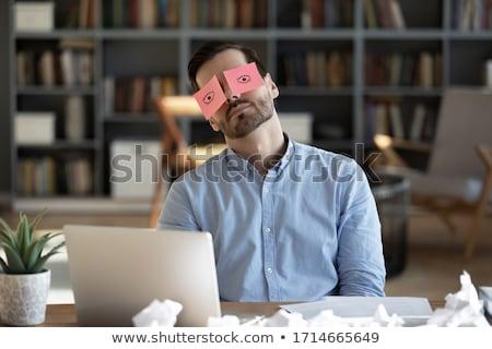 Fáradt kimerült férfi gond portré problémák Stock fotó © stevanovicigor
