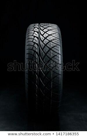 Close-up texture of tire, studio shot Stock photo © amok