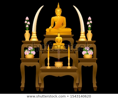buddha statue on a table stock photo © wavebreak_media