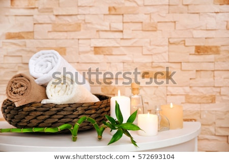 objects on white green massage table stock photo © shutswis