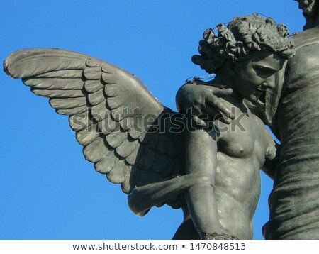 Anioł rzeźba granitu barokowy interpretacja odizolowany Zdjęcia stock © ShawnHempel