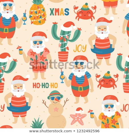 seamless christmas holidays background illustration of a seamless wallpaper background of white win stock photo © rommeo79