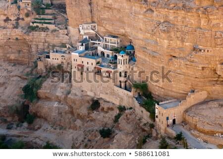 Klasztor Izrael drogowego charakter pustyni górskich Zdjęcia stock © OleksandrO
