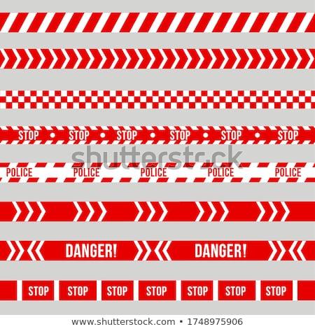 Stopteken Rood gevaar tape vector ontwerp Stockfoto © saicle
