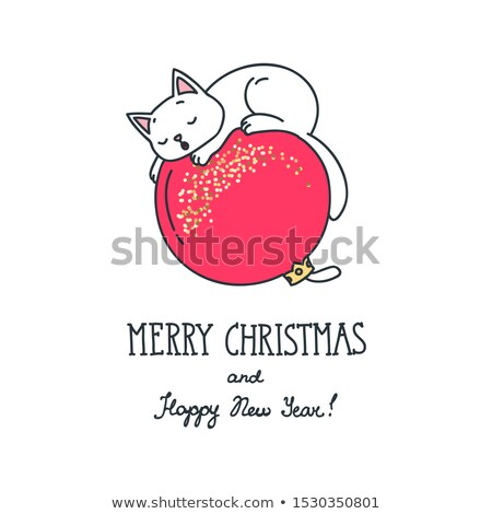 tükör · labda · vidám · karácsonyi · üdvözlet · vektor · formátum - stock fotó © beholdereye