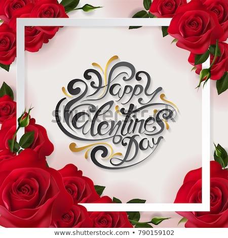 güller · buket · tebrik · kartı · eps · 10 · yalıtılmış - stok fotoğraf © beholdereye