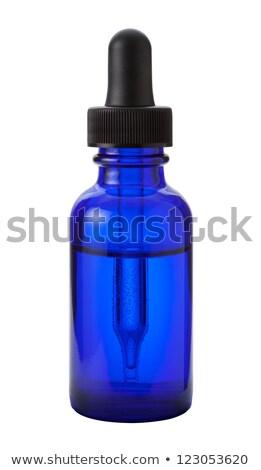 Kék orvosi üveg cseppentő illusztráció fehér Stock fotó © bluering