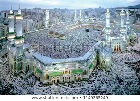 Mosquée bâtiment foule groupe culte Photo stock © zurijeta