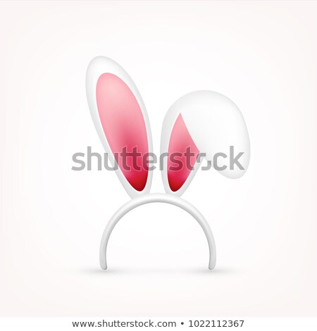 pink rabbit with blue ears stock photo © bluering