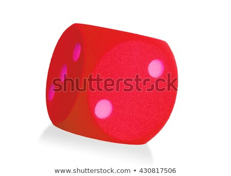 Large red foam dice isolated - 2 Stock photo © michaklootwijk