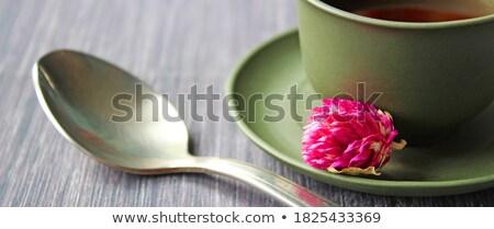 çay cam demlik taş tablo dikey Stok fotoğraf © Karpenkovdenis