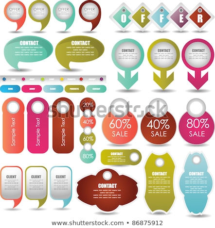 Colorful Round labels / pointers Stock photo © orson