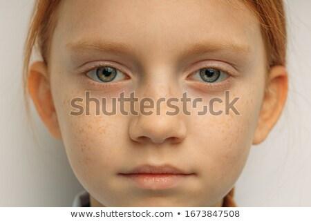 női · arc · közelkép · szőke · haj · vonzó · fiatal · nő · arc - stock fotó © ssuaphoto