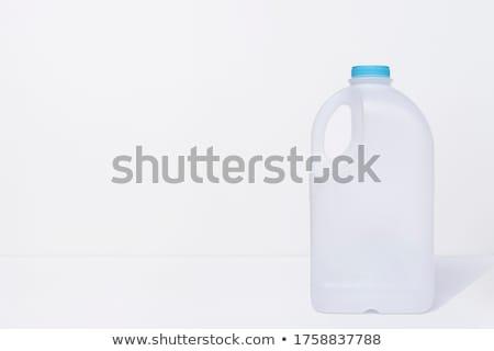 üres tejesflakon bézs kancsó adag tej Stock fotó © Digifoodstock