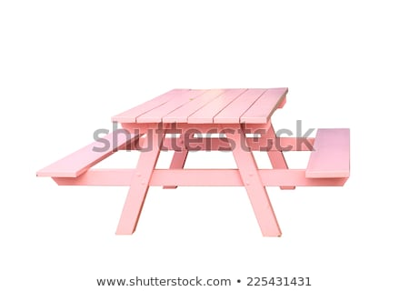 Wooden Standard Bench Isolated on White Background Stock photo © robuart