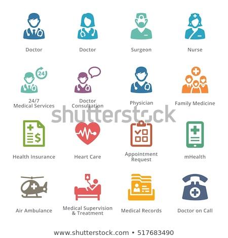 Találkozó kérés orvosi szolgáltatások ikon terv Stock fotó © WaD