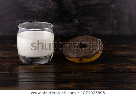 Csokoládé fánk üveg közelkép étel gyümölcs Stock fotó © Sibstock