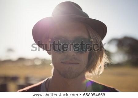 Portre yakışıklı adam ayakta açık gökyüzü Stok fotoğraf © wavebreak_media