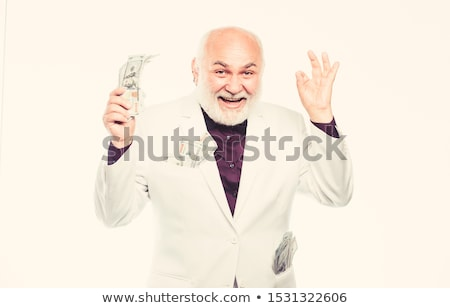 érett üzletember Euro dollár pénz bankjegyek Stock fotó © ichiosea
