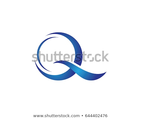 q letter wave logo template stock photo © ggs