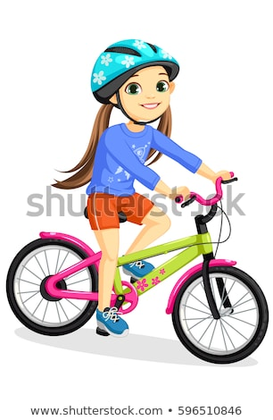 Girl On Cycle Stock photo © IS2