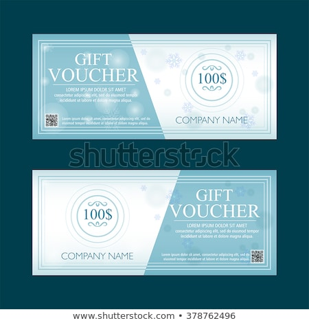 Gift Voucher 100 Dollars Special Present Two Text Labels Stockfoto © marinini