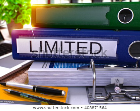 blue office folder with inscription limited stock photo © tashatuvango