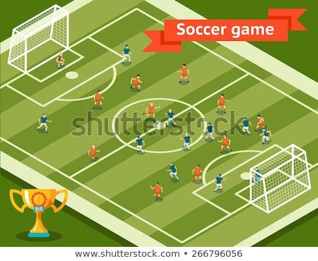 シルエット · サッカー · プレーヤー · セット · 異なる · スポーツ - ストックフォト © krisdog