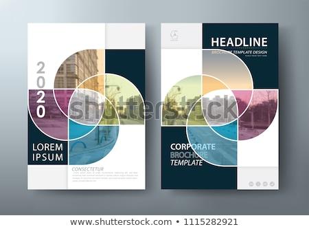 Fekete füzet borító sablon izolált fehér Stock fotó © daboost